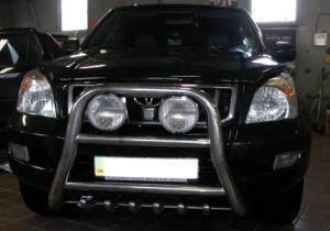 Toyota Land Cruiser Prado 120 замена шататной оптики.